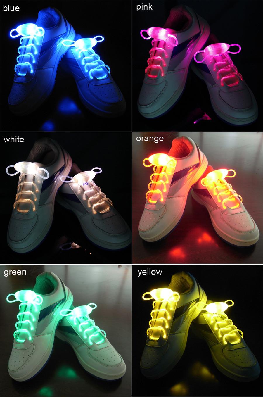 e89367788fd5f 10 Pairs Colorful LED Flash Light Up Shoe Laces Party Disco Shoes ...