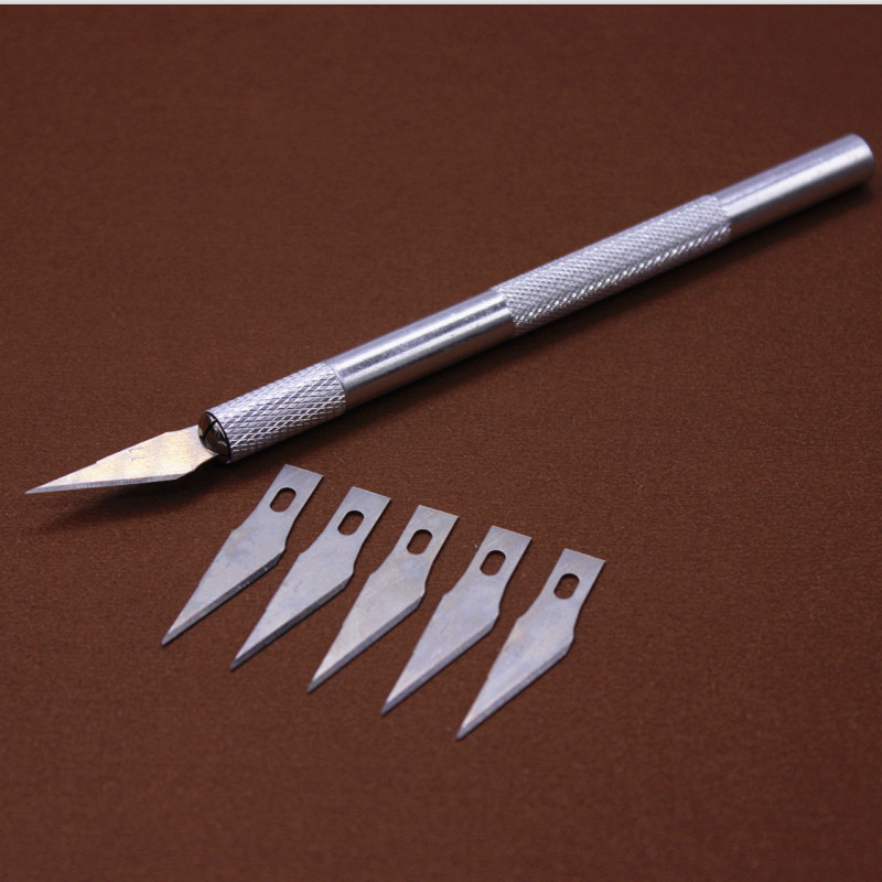 Non-Slip Metal Scalpel Knife Tools Kit Cutter Engraving Craft knives + 6 pcs Blade Mobile Phone Laptop  DIY Repair Hand Tools pro skit dp 3616 professional diy soldering aid tools 6 pcs