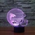 7 Colores Ilusión 3D LED NFL Deporte Forma USB lámpara de Mesa Atlanta Falcons táctil Lampara Lámpara de Escritorio Para Niños Kid Regalo Nightlight
