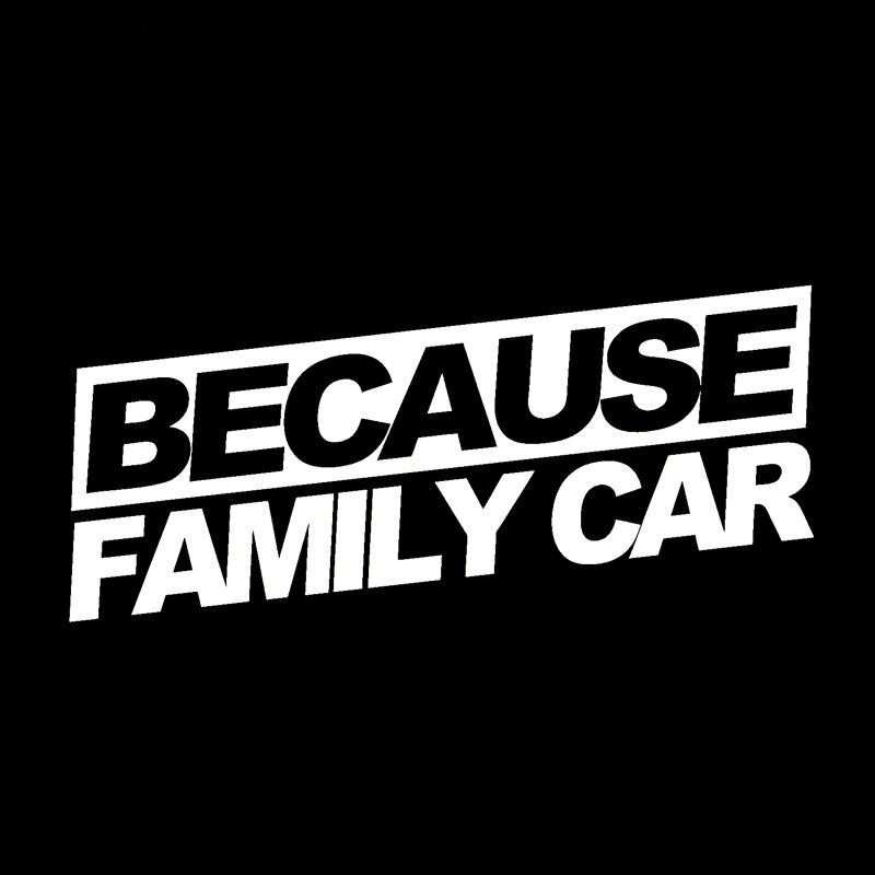 Wholesale 10pcs/lot Because Family Car Sticker Funny Race Drift Jdm Hooligan Stance Drift Wrx Decal