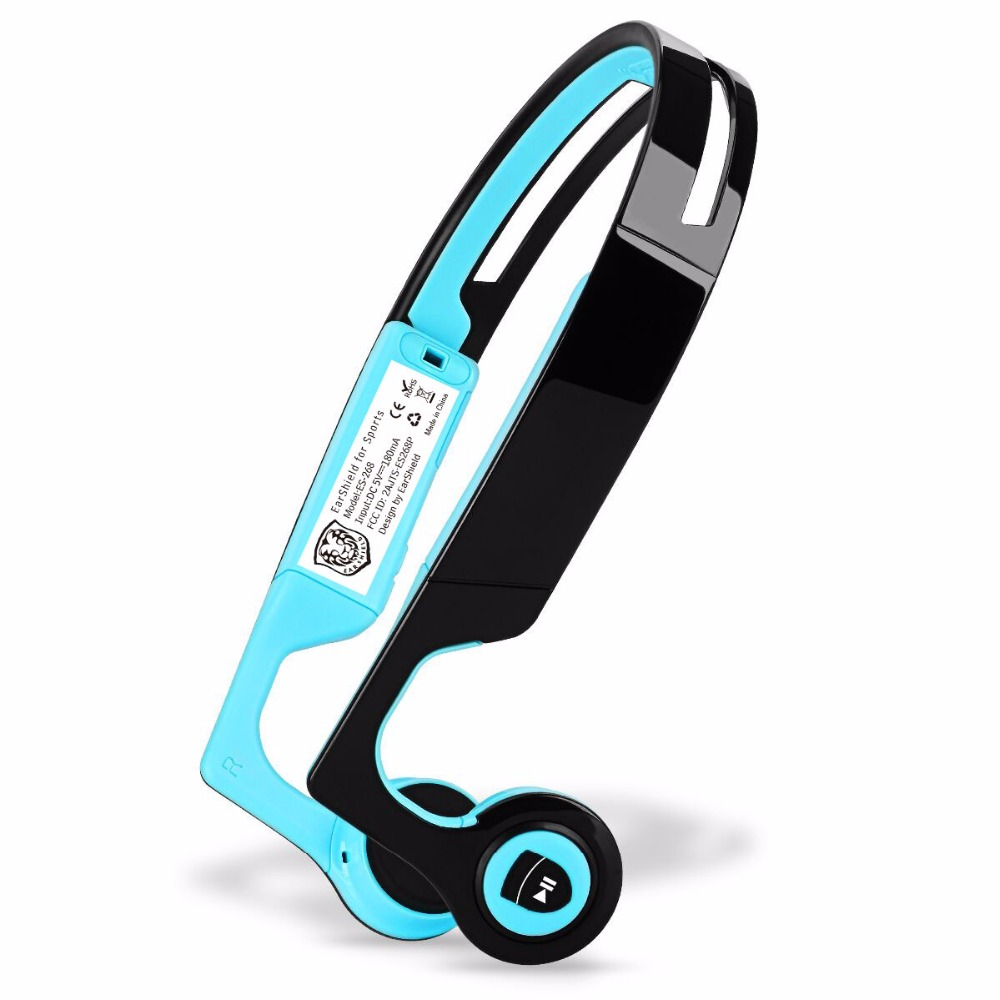 Wireless Bluetooth Stereo Bone Conduction Headset Handsfree Earphones Sports Headphones With Mic For Iphone Android Smartphones ttlife sweatproof stereo bluetooth 4 1 headphones wireless sports earphones handsfree with mic headset for iphone 7 8 phones