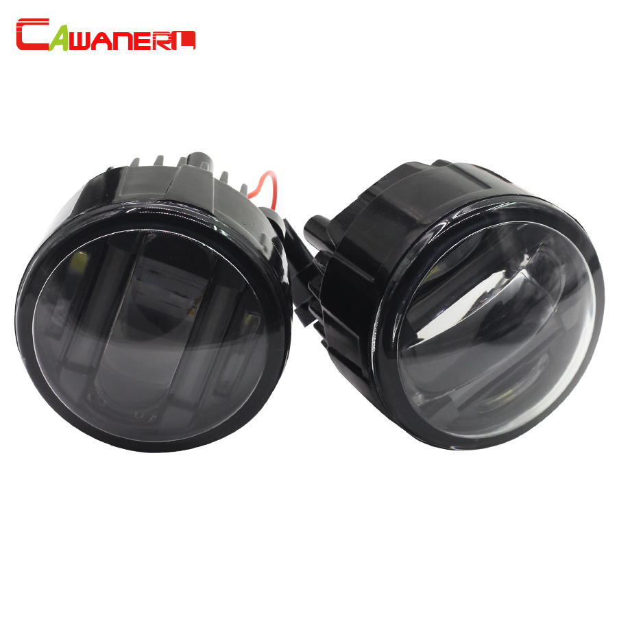 Cawanerl 2 Pieces Car LED Fog Light DRL Daytime Running Lamp Styling For Nissan Rogue Quest Lafesta Presage Vampira