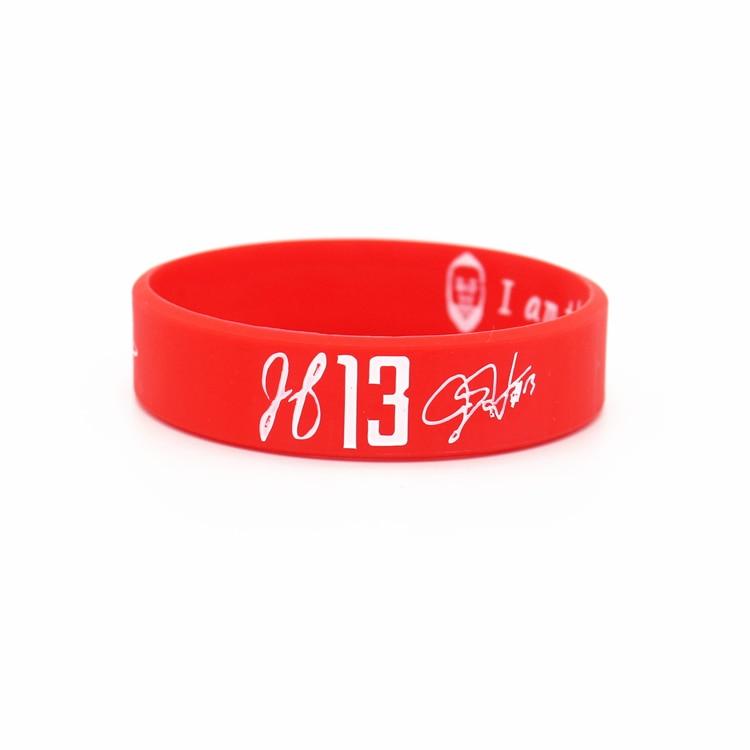 12pcs good quality rubber balance wristband basketball sports energy bangle super star harden head version power braceltet