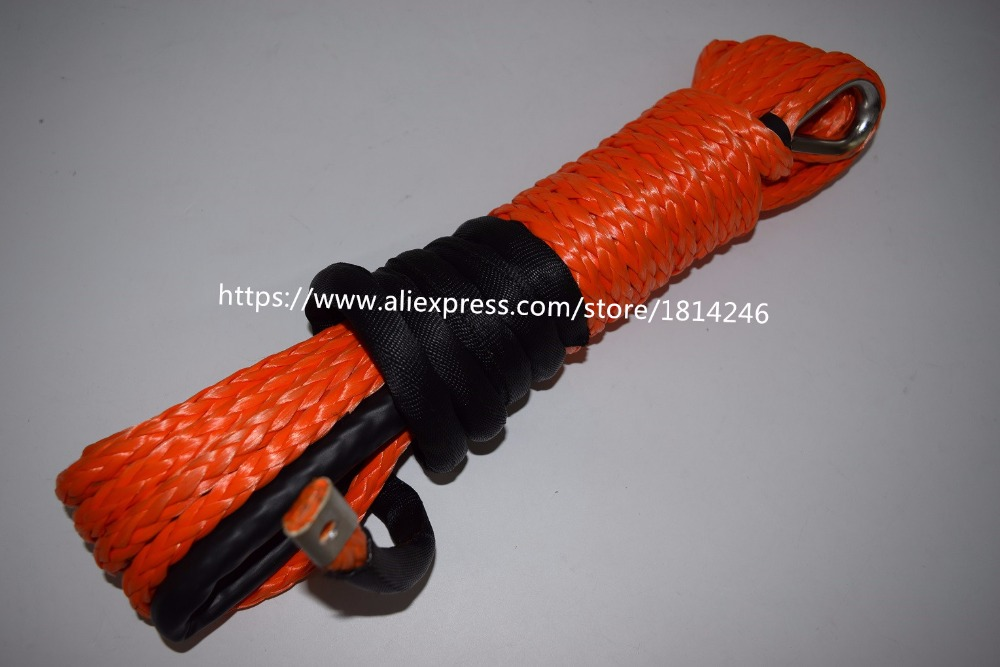Free Shipping 11mm*12m Orange Synthetic Winch Rope,ATV Winch Line for UTV Winch Accessaries,ATV Winch Cable колонки sven ms 302 2x10 20 вт черный