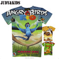 Teenage kids 3D t-shirt ropa para niños bambi de aves enojado girls summer tops ruffle raglán camisetas tops cinco noches en freddy
