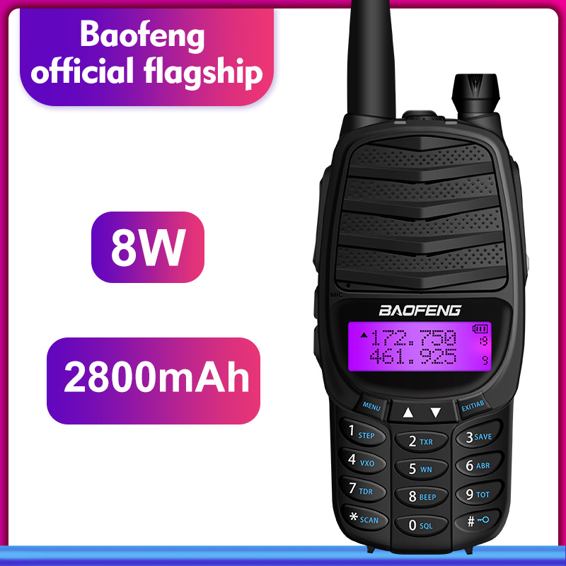 2019 new walkie talkie baofeng RS UV800 two way radio 8w Dual Band UHF&VHF Portable radio UV 82 PLUS Transceiver Ham Radio gift-in Walkie Talkie from Cellphones & Telecommunications