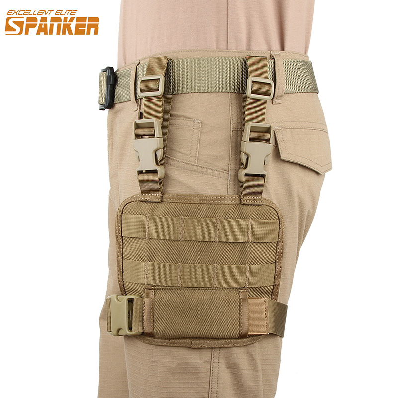 Outdoor Military Training Small Nylon Legs Hanging Plate Hunting Camo Molle Combat Tactical Accessories