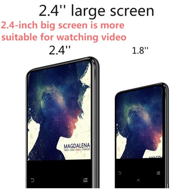 Lecteur MP4 Bluetooth touche tactile haut-parleur intégré 8 GB/16 GB Portable lecteur de musique sans perte 2.4 pouces grand écran lecteur vidéo Walkman