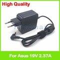 19V 2.37A Ноутбук ac адаптер питания зарядное устройство для Asus R512C R512CA X450EA X450LA X451C X451CA X454WE X454YA X455LA штепсельная вилка европейского стандарта