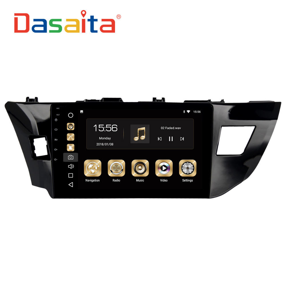 Dasaita 10,2 Android 8,0 автомобиль gps радио для Toyota Corolla 2014 2015 2016 с Octa Core 4 ГБ + 32 ГБ авто стерео Мультимедиа