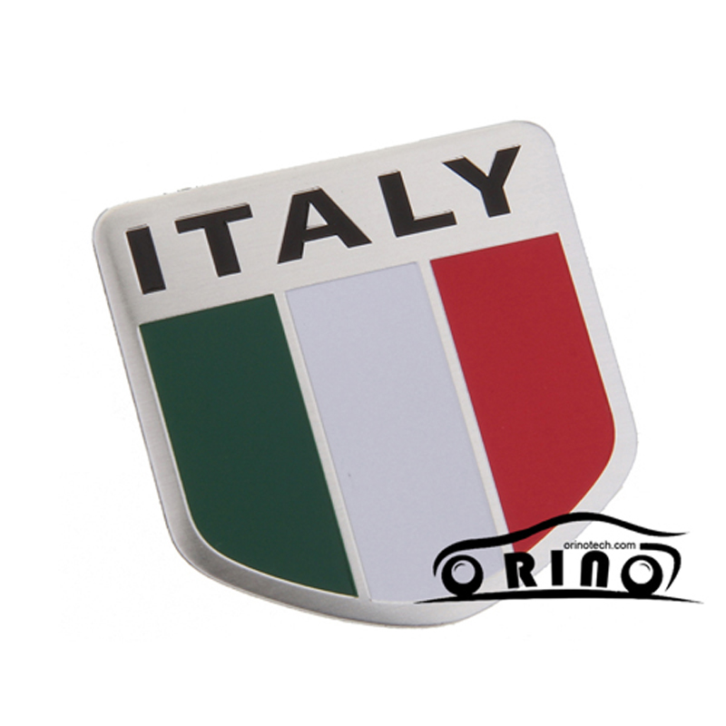 Car Styling Italy Italia Flag Map Badge Sticker For Fiat