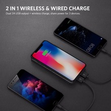 Yoobao W5 Qi Wireless Charger 5000Amh Portable Dual USB Power Bank  Wireless Charging Pad for iPhone X 8 Plus Samsung Note 8 S8