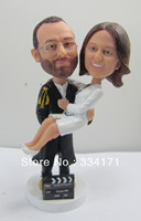 Персонализированные Кукла Пупс Холдинг невеста свадебный подарок Свадебные украшения фиксированной полистоуна корпус + полистоуна голова