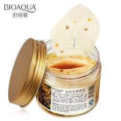 BIOAQUA Or Osmanthus Masque Pour Les Yeux Collagène protéines de lactosérum de couchage masque hydrogel patches patch pour les yeux soins de la peau 80 pcs /bouteille