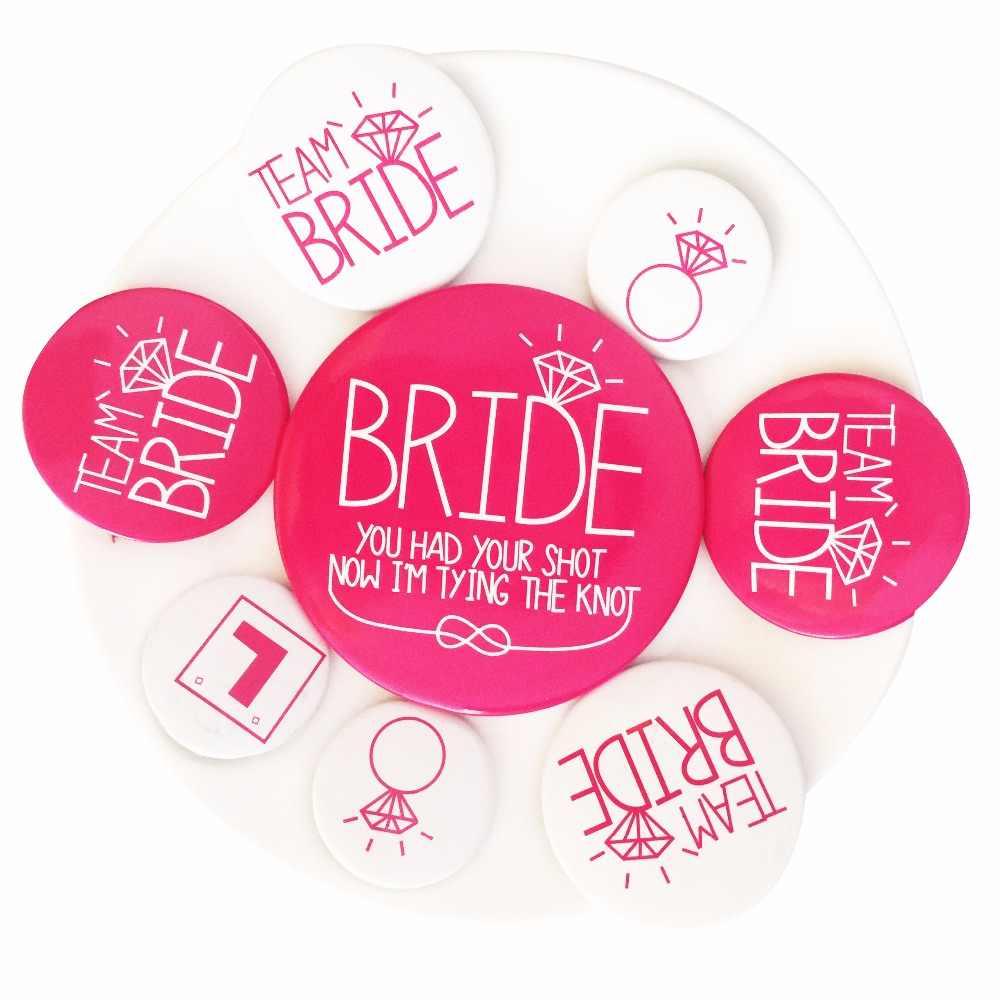 8 шт. девичьи вечерние значки Rosy реквизит для фотографий невесты быть буквами свадебное свободное платье аксессуар девичник вечерние сувениры