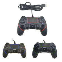 For PS4 Controller USB Wired Joystick For Playstation Dualshock 4 Gamepads Multiple Vibration 2.1M Cable For PS4 Console