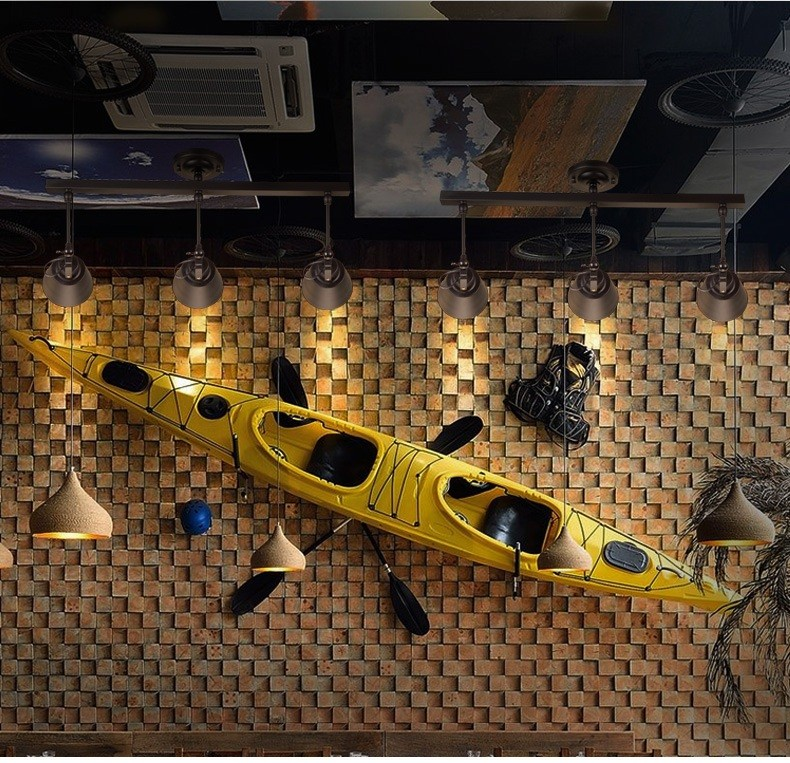Luminária de teto estilo loft, lâmpada criativa