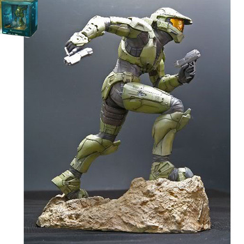 Hot Selling Halo3 Kotobukiya Spartan Figure Statue 12in Army Green Color In Boxed