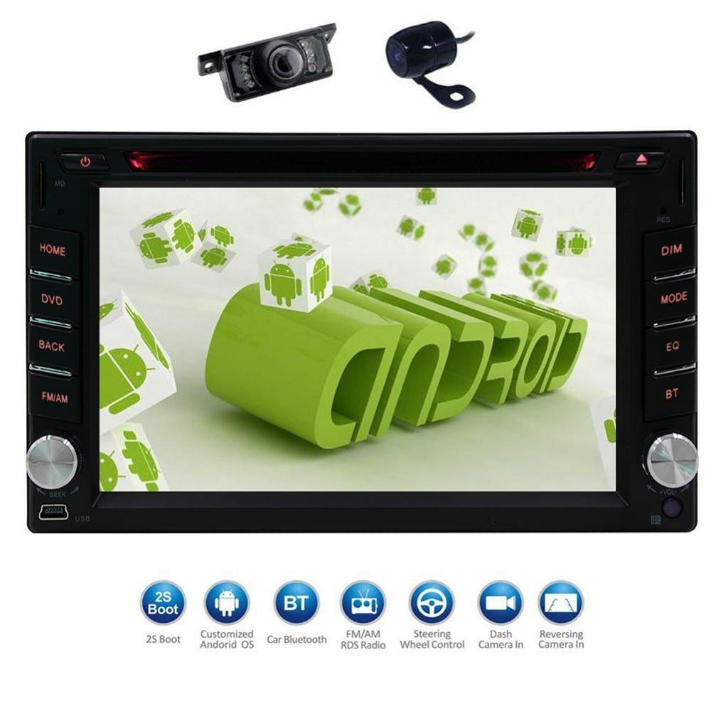 Android6 0 2din font b gps b font Capacitive Screen Car Stereo Radio DVD Player in