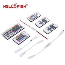 RGB Светодиодная лента мини контроллер Диммер ИК инфракрасный RF беспроводной пульт дистанционного управления 44 24 17 ключ Hello Fish