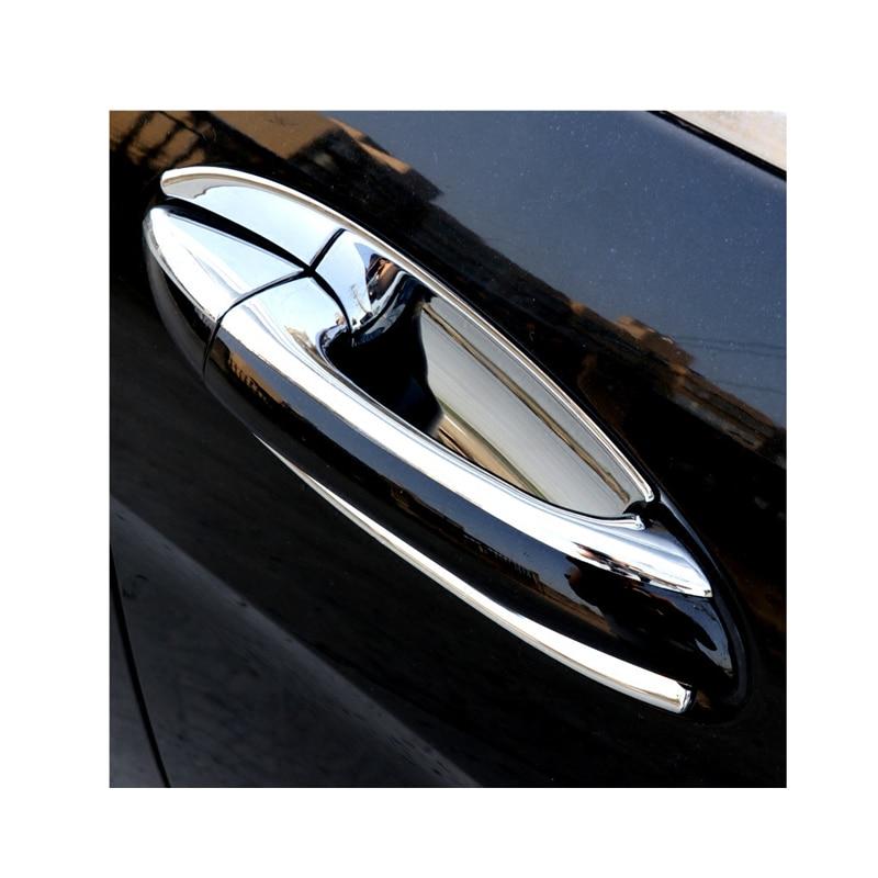 For Mercedes W251 chrome door handle light bar R400 R500 door handle car stickers R350 door bowl protection accessories