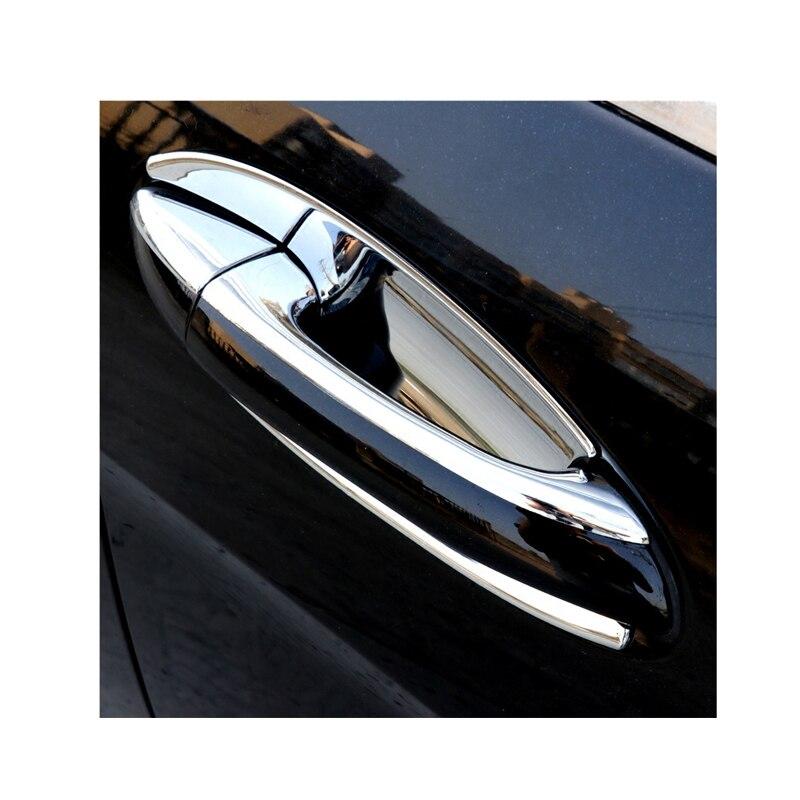 Para Mercedes W251 chrome maçaneta da porta barra de luz porta do carro punho adesivos R350 R500 R400 porta tigela acessórios de proteção