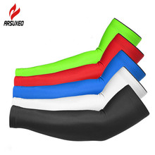 Summer UV Protection Sports Arm Sleeve Compression Cycling Sleeves Breathable Elastic Warmer  Running Warmwers