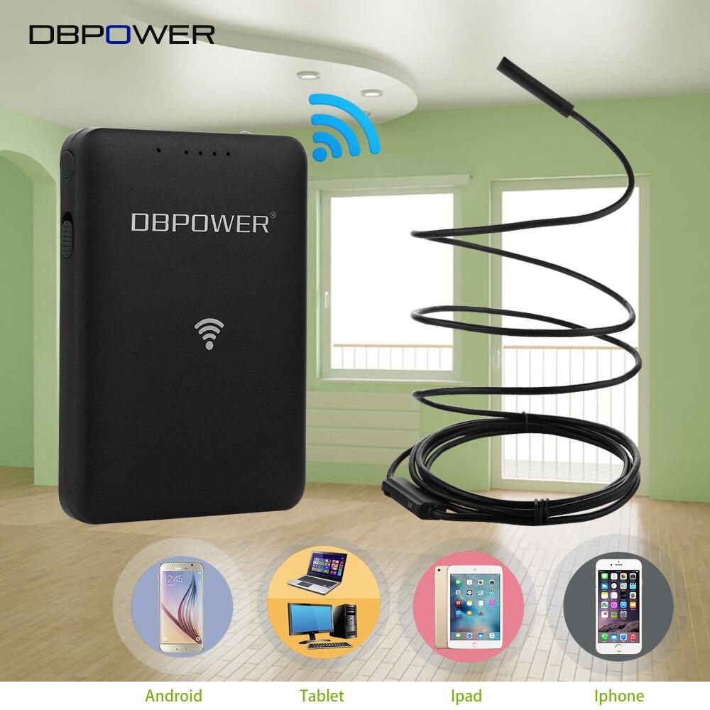 bilder für DBPOWER USB WIFI Endoskop 9mm 2MP HD 720 P 6LED Inspektion schlange Kamera 1 ~ 20 Mt Kabel Unterstützung 30 Mt Endoskop für Android IOS Tablet