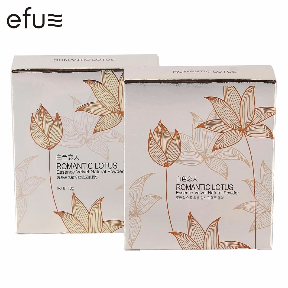 Romantic Lotus Essence Velvet Natural Pressed Powder 2 Colors Brighten Concealer 10g Face Makeup Brand EFU #7017