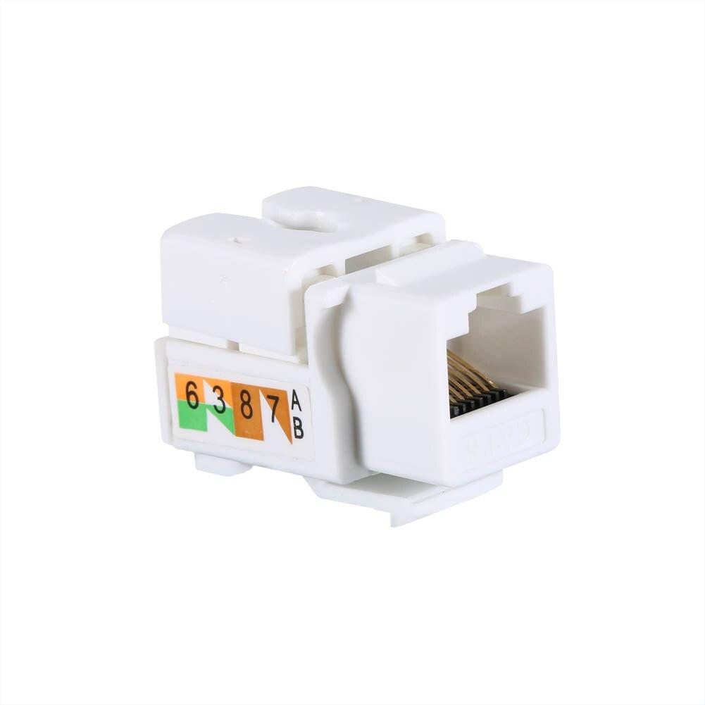 2019 Hot 50 Pcs Generic Cat6 RJ45 Keystone Jack Punch-Down Stand Ethernet Module Coupler For DOY