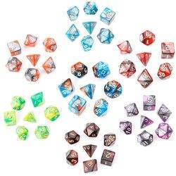 7 teile/satz Acryl Polyhedral Würfel Für TRPG Brettspiel Dungeons Und Drachen neue
