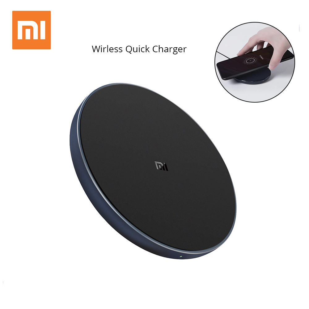 Xiaomi Wireless Charger for Xiaomi Mix 2S/Samsung S9/iphone X/ QI Wireless Quick Charging smart compatible for mobile phones qi wireless universal charger mobile smart night light 10w