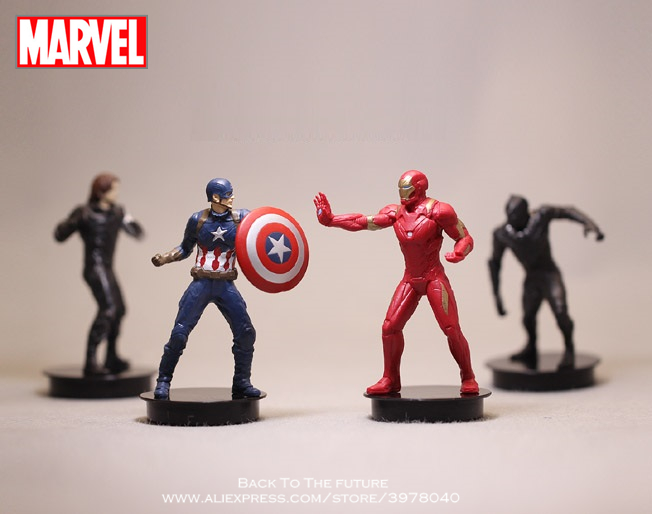 Disney Marvel Avengers 4pcs/set 8.5cm Iron Man Action Figure Model Anime Mini Decoration PVC Collection Figurine Toys model