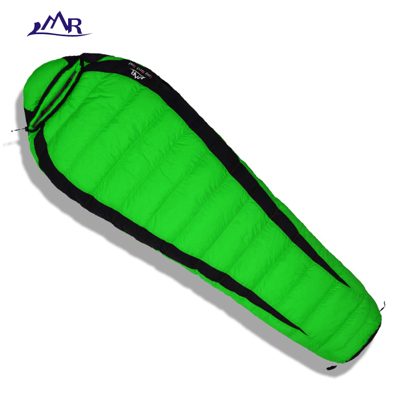 LMR 2018 winter sleeping bag down adult cold winter ultralight camping outdoor sleeping bag duck down waterproof Mummy bag 800g adult down outdoor camping sleeping bag mummy model sleeping bag with waterproof nylon sleeping bag