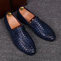 men fashion business wedding genuine leather shoes slip on lazy driving flats oxfords shoe teenage breathable summer loafers man