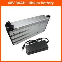 Free customs tax 1200W 48V Rear Rack Battery 48V 30AH Ebike battery Use NCR18650GA 3500mah cell 30A BMS 54.6V 2A charger