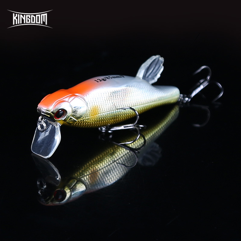 Kingdom Fishing lures 85mm 12g Artificial Baits with VMC Hooks Floating Hrard lure wobblers fishing tackle model LSM02 free shipping 3pc 18cm 150g fishing wood baits poppin gt game lure wood popper lure big wood popper baits vmc hooks with hole
