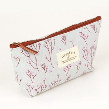 Vintage Flower Floral Pencil Pen Cosmetic MakeupGadget Storage bag Case Purse Multi Functional Travel Organizer Handbag