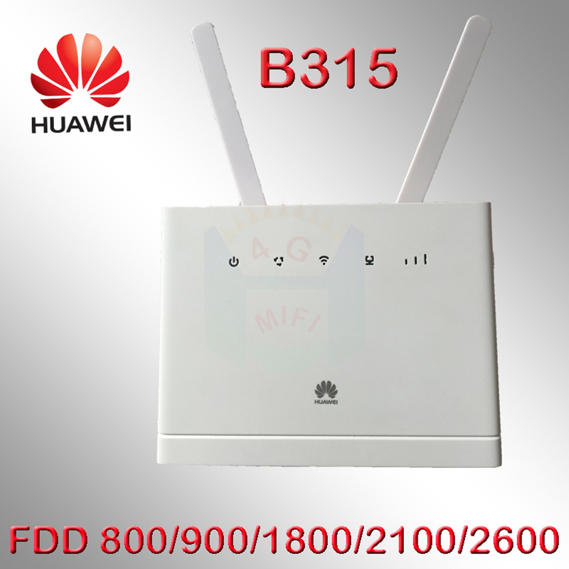 Unlocked HUAWEI B315 B315S-22 LTE CPE 150Mbps 4G LTE FDD wireless gateway wifi Router huawei b315s-22 4g lte router original unlocked huawei e3372 m150 2 lte fdd 150mbps 4g lte modem support lte fdd 800 900 1800 2100 4g crc9 49dbi dual antenna