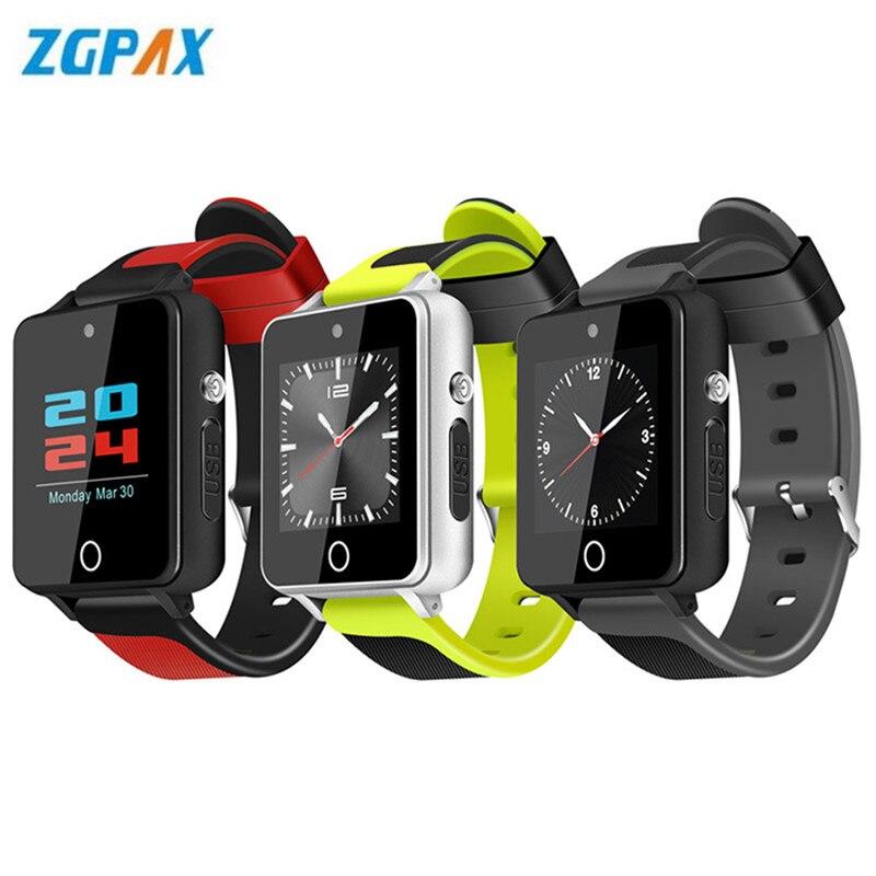 ZGPAX S9 Pro 3G Smartwatch Phone 1.54'' Android 5.1 MTK6580 Quad Core 1GB+16GB Sedentary Reminder Bluetooth 450mAh Smart Watch цена