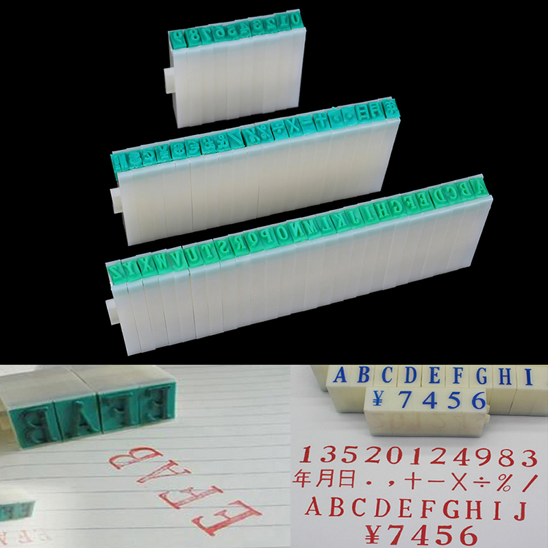 Number Alphabet Letter Rubber Stamp Free Combination Cute DIY Scrapbooking Stamp