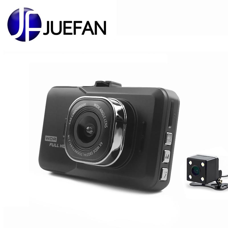Videocámara Cámara del coche de HD 1080 p/visión nocturna soporte/alta definición Dvr lente Dual dvr 3,0 pulgadas pantalla de carga