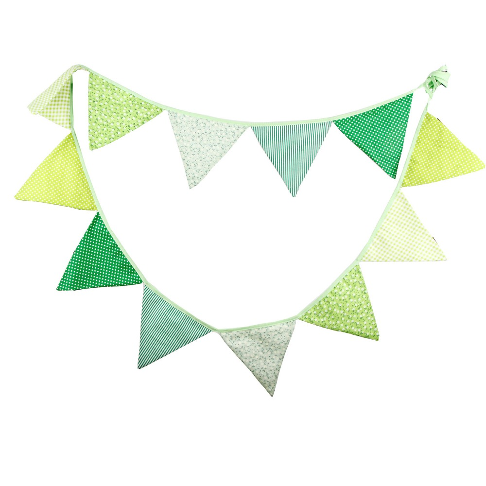 12 Flags 3 2m Colorful Cotton Fabric Banner Bunting Flag