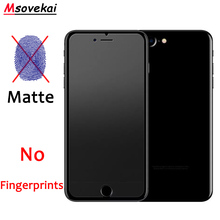 hot deal buy frosted matte tempered glass for iphone 8 plus iphone xs max xr iphone 6s 6 plus 7 plus 5s se anti-fingerprint screen protector