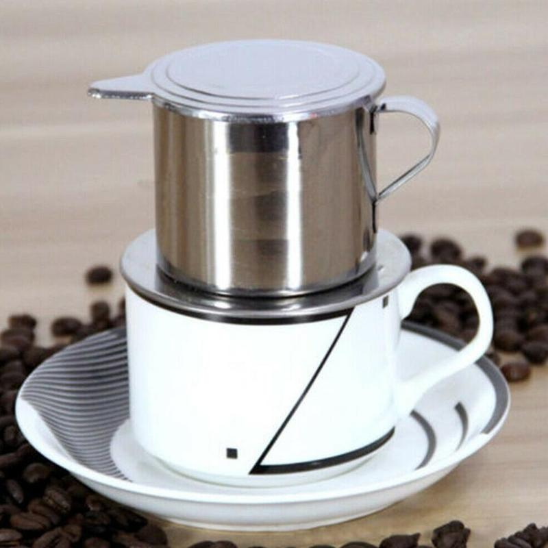 <font><b>Portable</b></font> <font><b>Stainless</b></font> <font><b>Steel</b></font> <font><b>Vietnam</b></font> <font><b>Coffee</b></font> <font><b>Dripper</b></font> Reusable <font><b>Vietnam</b></font> <font><b>Coffee</b></font> Drip Pot v60 <font><b>Dripper</b></font> Vietnamese <font><b>Coffee</b></font> Cup image