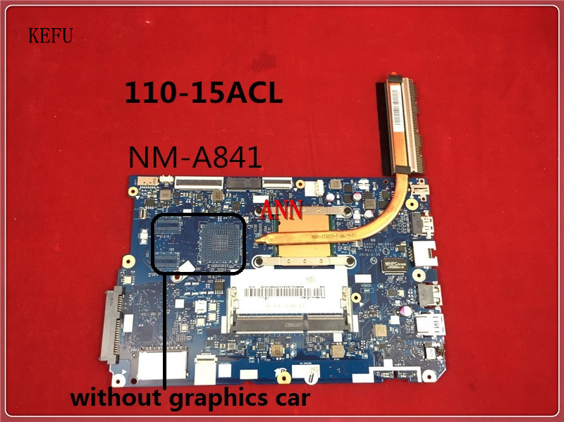 KEFU High quanlity for lenovo 110 15ACL NM A841 CG521 Laptop Motherboard with CPU A6 7310