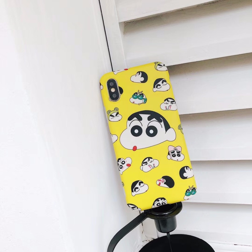 ZMASI Lovely Crayon Shin Chan Phone Case For IPhone X