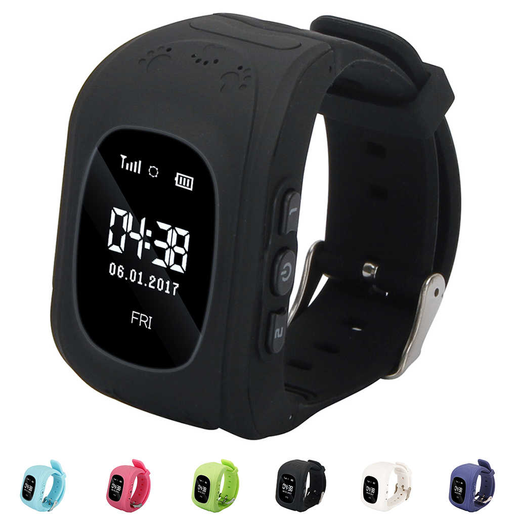 Q50 OLED Child GPS Tracker SOS Smart Monitoring Positioning Phone Kids GPS Baby Watch Compatible IOS & Android