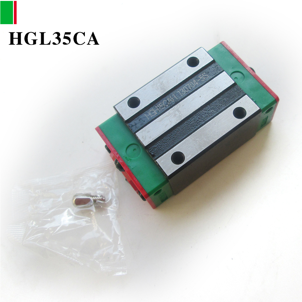 HIWIN 1PCS HGL35CA bearing linear slide unit HGL35 CNC parts guide rail block HGL free shipping to argentina 2 pcs hgr25 3000mm and hgw25c 4pcs hiwin from taiwan linear guide rail