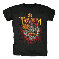 Bloodhoof Free shipping Trivium heavy metal band Rock Music cotton Black T Shirt Size S M L XL Asian Size